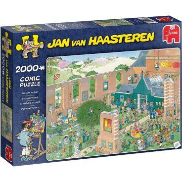 Jan van Haasteren Puzzel De Kunstmarkt 2000 stukjes