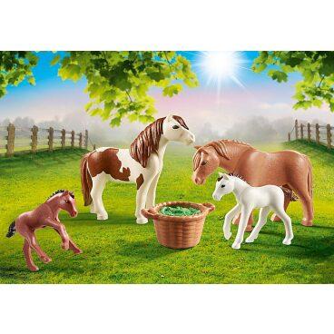 Playmobil Country Pony's met veulens 70682