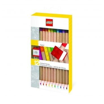LEGO School 12 kleurpotloden en puntenslijper